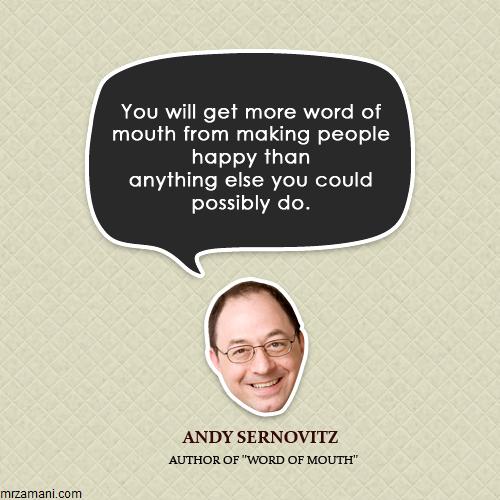 نقل قول بازاریابی دهان به دهان - اندی سرنوویتز - انواع بازاریابی