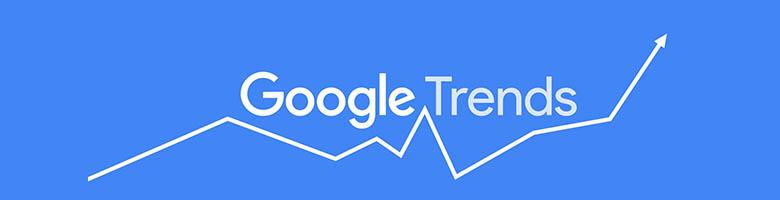 لوگو گوگل ترندز در مثالی از رصد روندها در حوزههای مختلف، با کمک گوگل ترندز