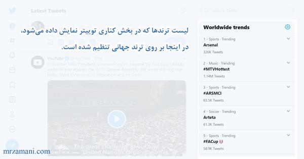 تصویر ترند در سایت توییتر - ترند توییتر فارسی چیست
